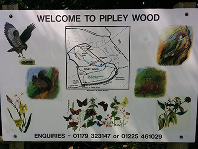 Pipley Wood welcome sign